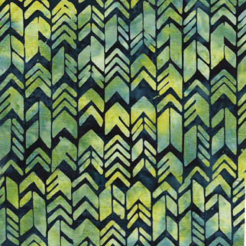 Geometric Arrow, Navy/green,