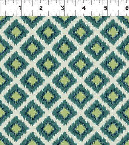 Mini Ikat Teal Diamond grid