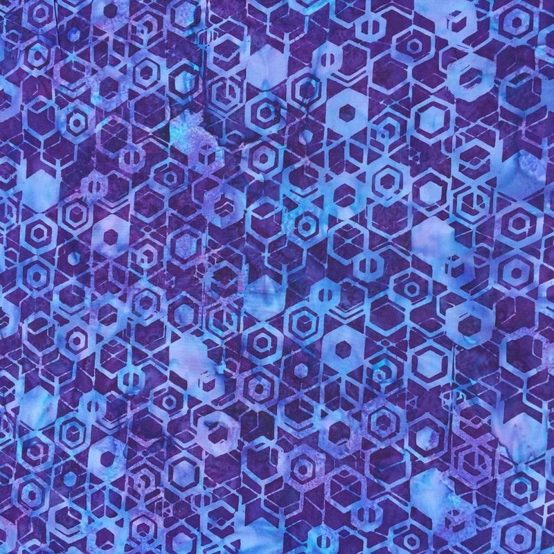 Sallvia Hexagons on Purple