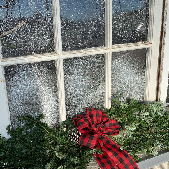 Country Christmas Decorated Window Swag