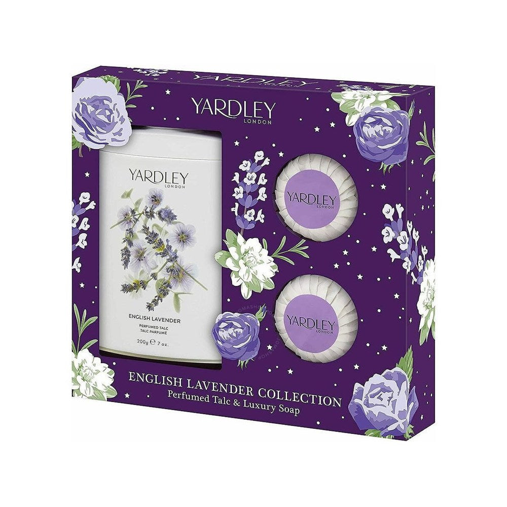 Yardley Lavender Talc 3Pc (Talc&2Xsoap)