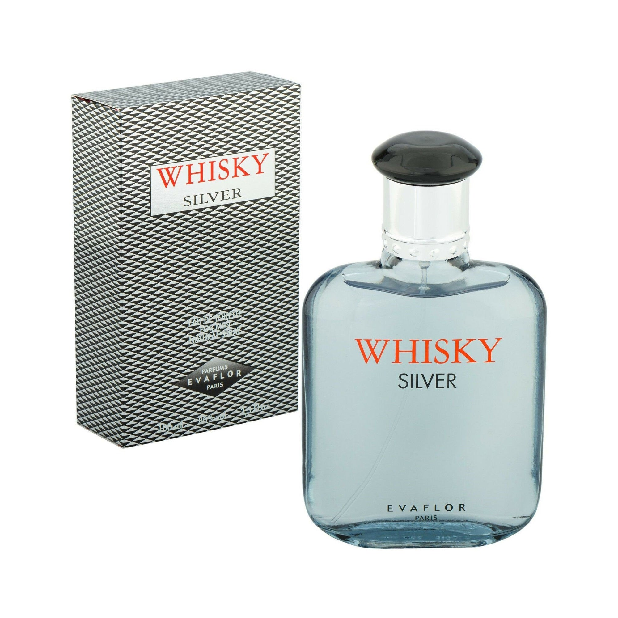 Whiskey Silver Eau De Toilette for Men 100ml