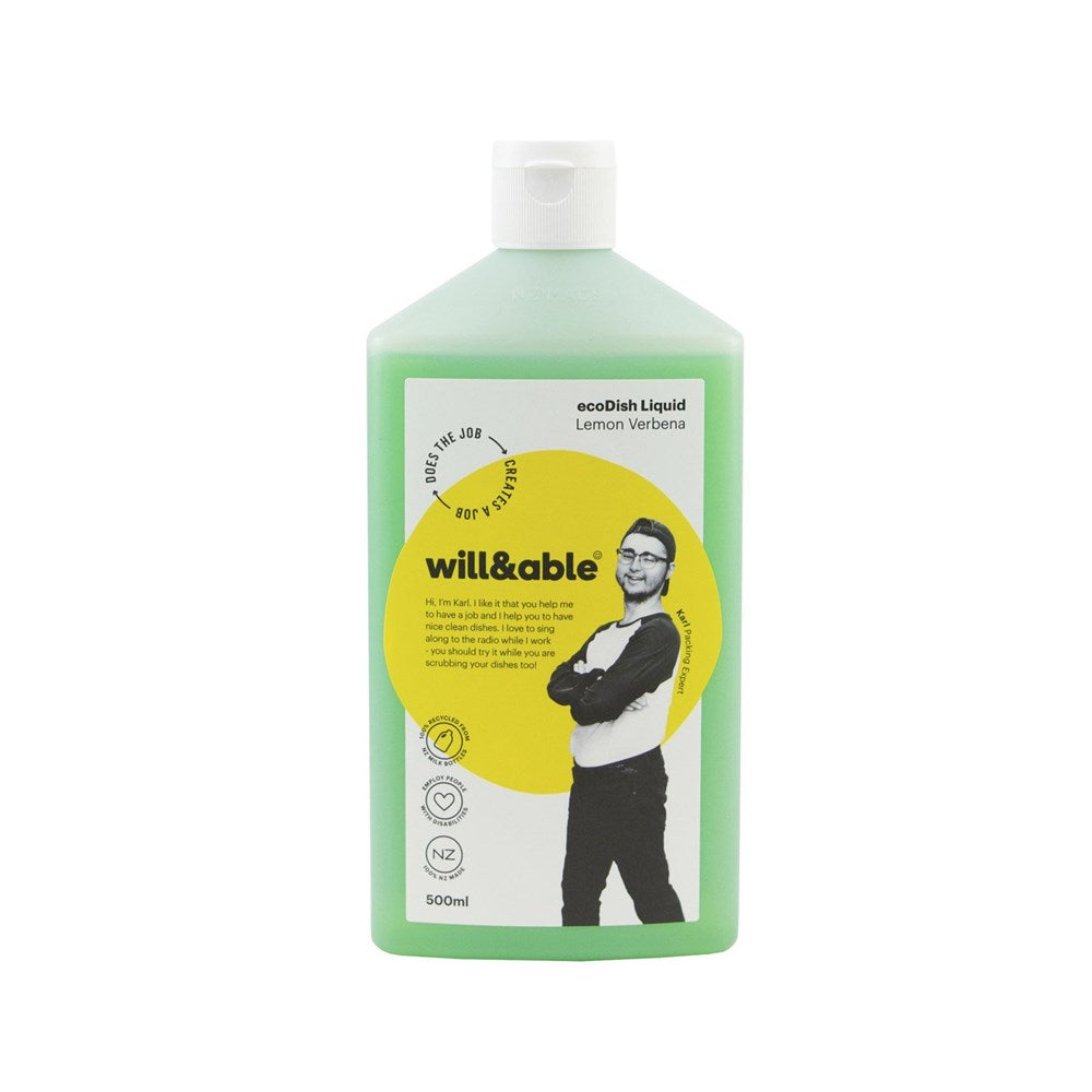 Will&Able ecoDish Liquid Lemon Verbena 500ml