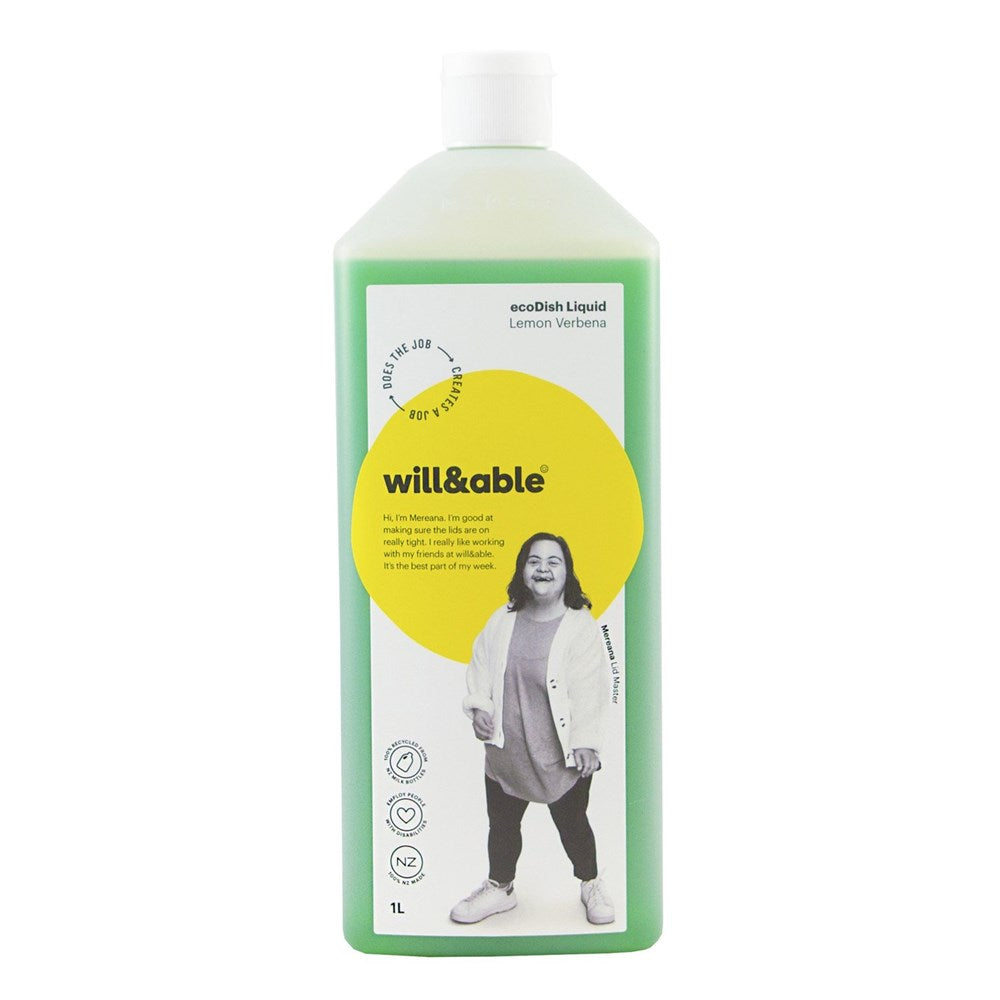 Will&Able ecoDish Liquid Lemon Verbena 1L