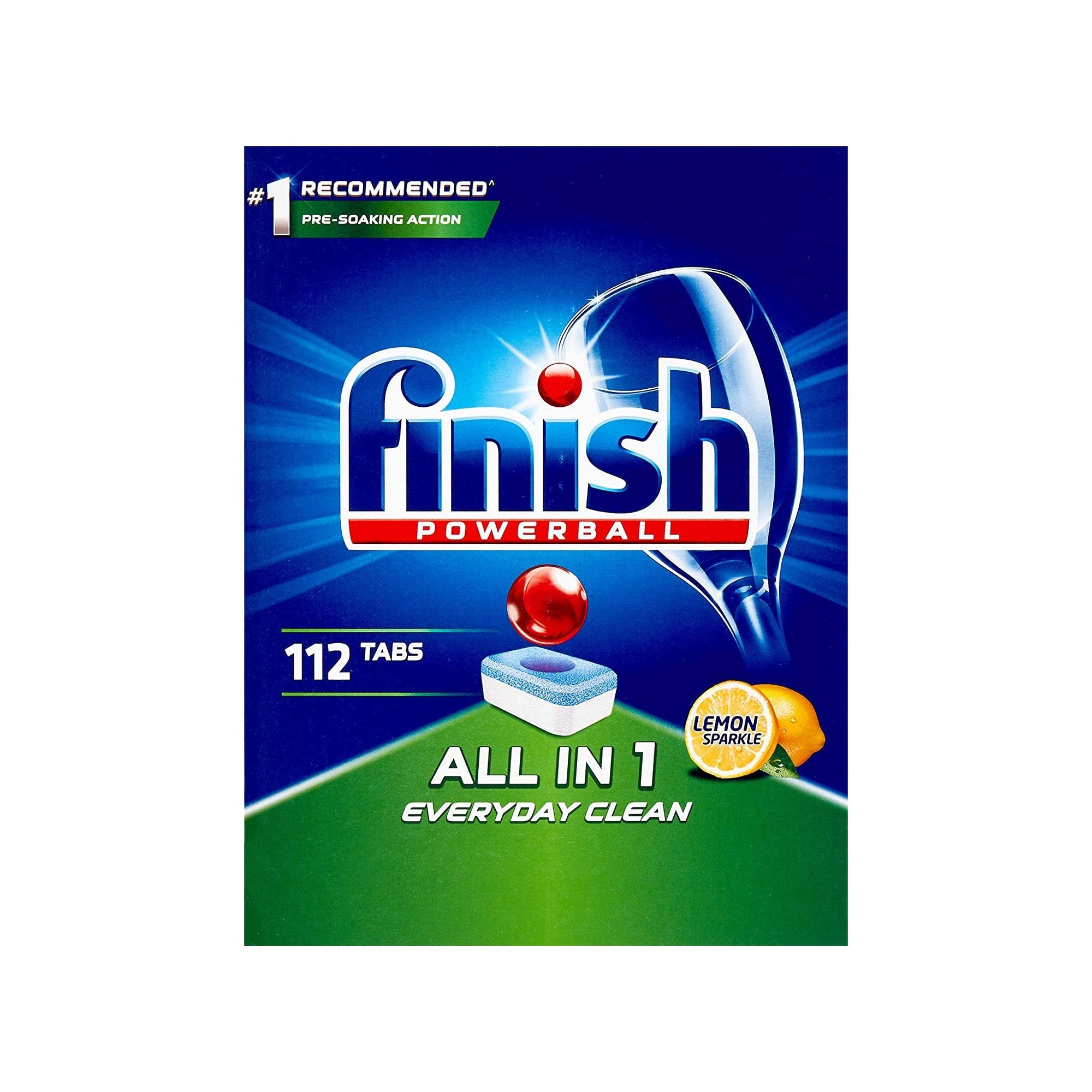 Finish Powerball All in One Dishwasher Tablets 112Pk