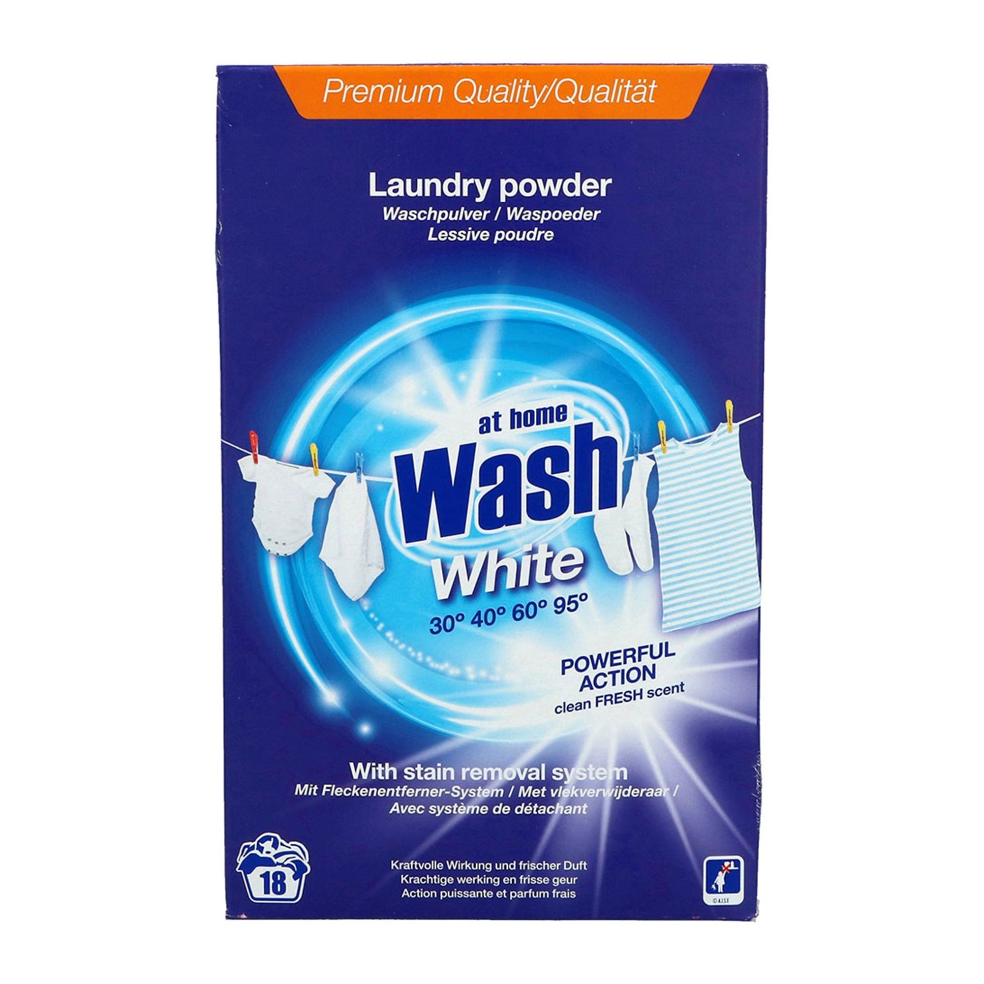 At Home Laundry Powder for Whites 1.5kg