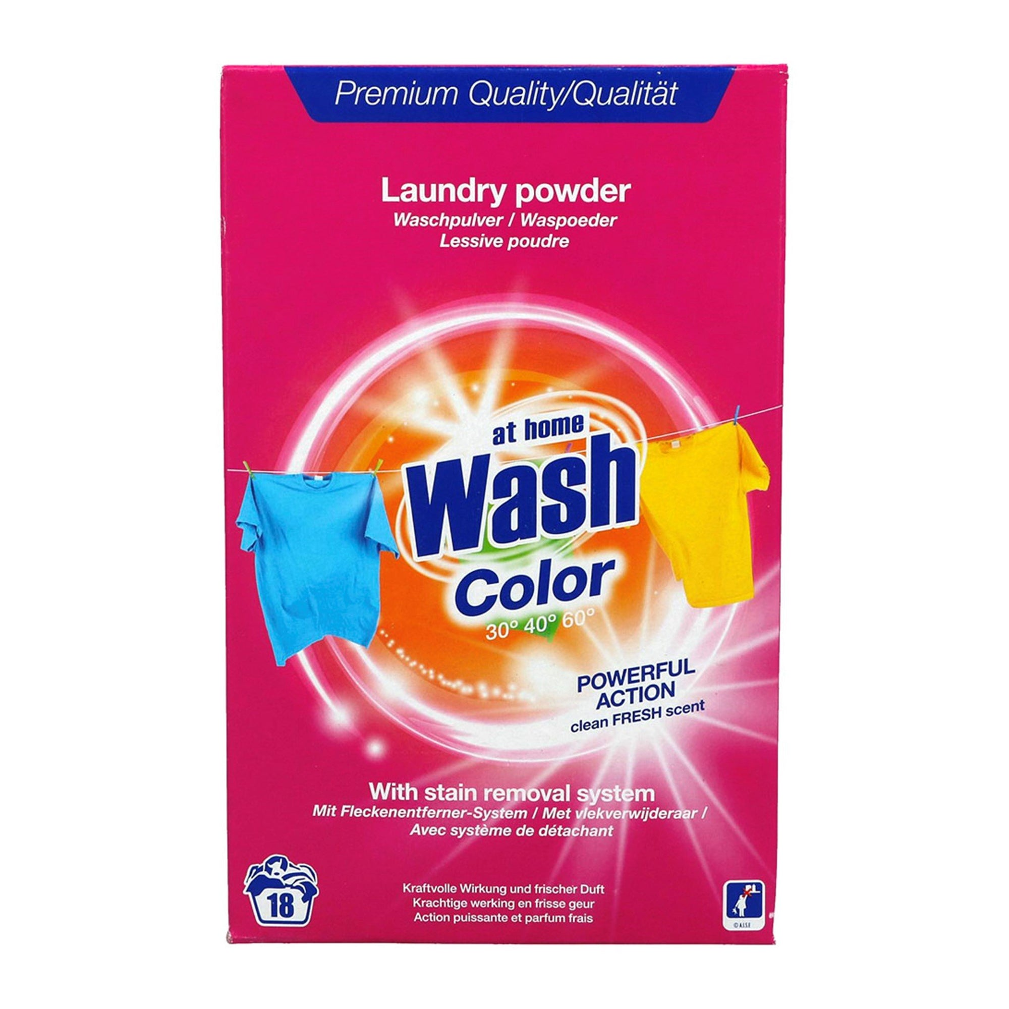At Home Laundry Powder for Colours 1.5kg