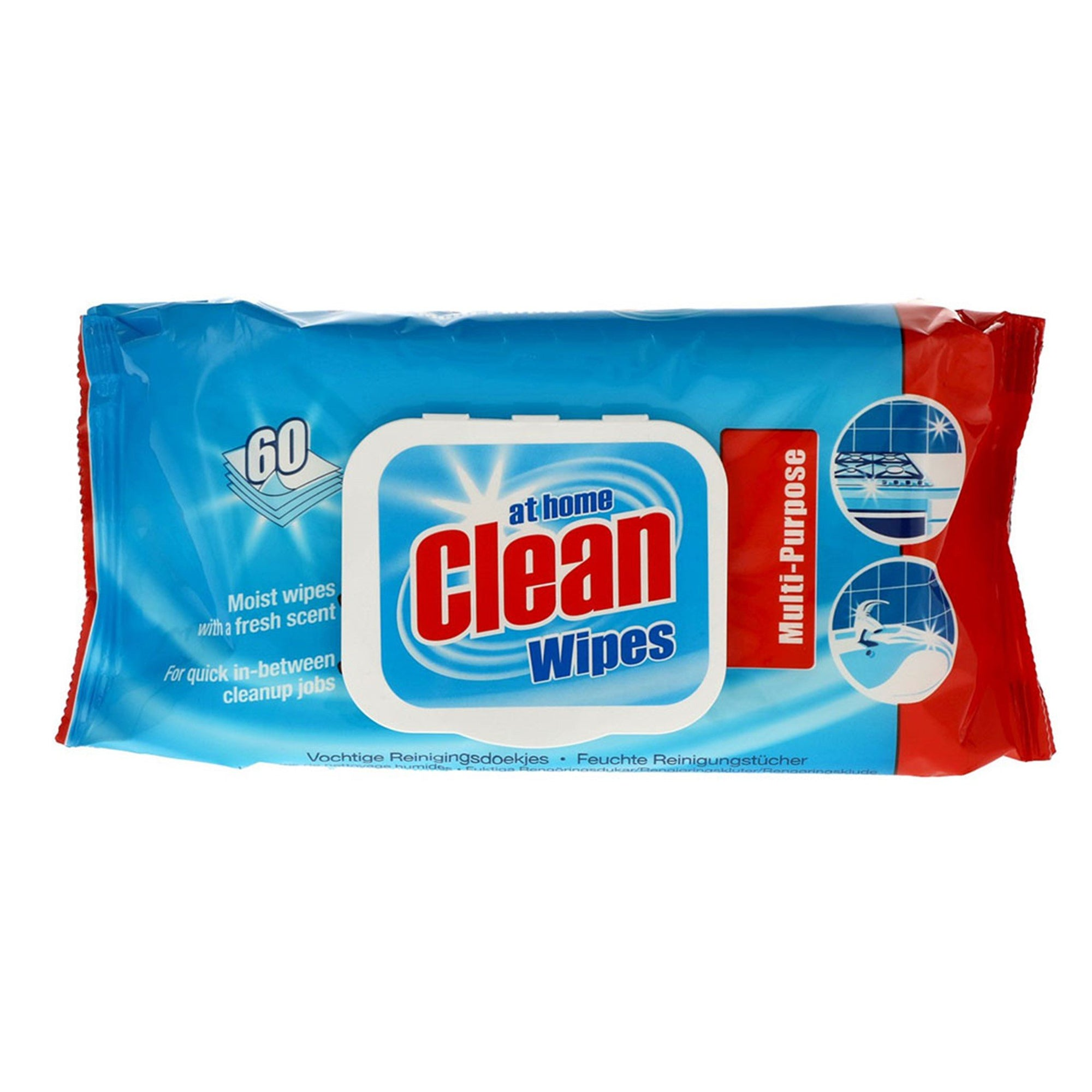 At Home Multi Cleaning Wipes Original 60Pk