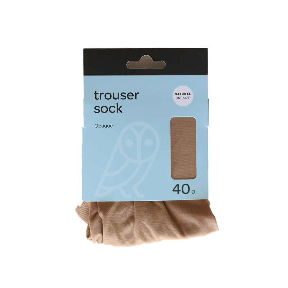 Pricewise Trouser Sock One Size Natural 40D