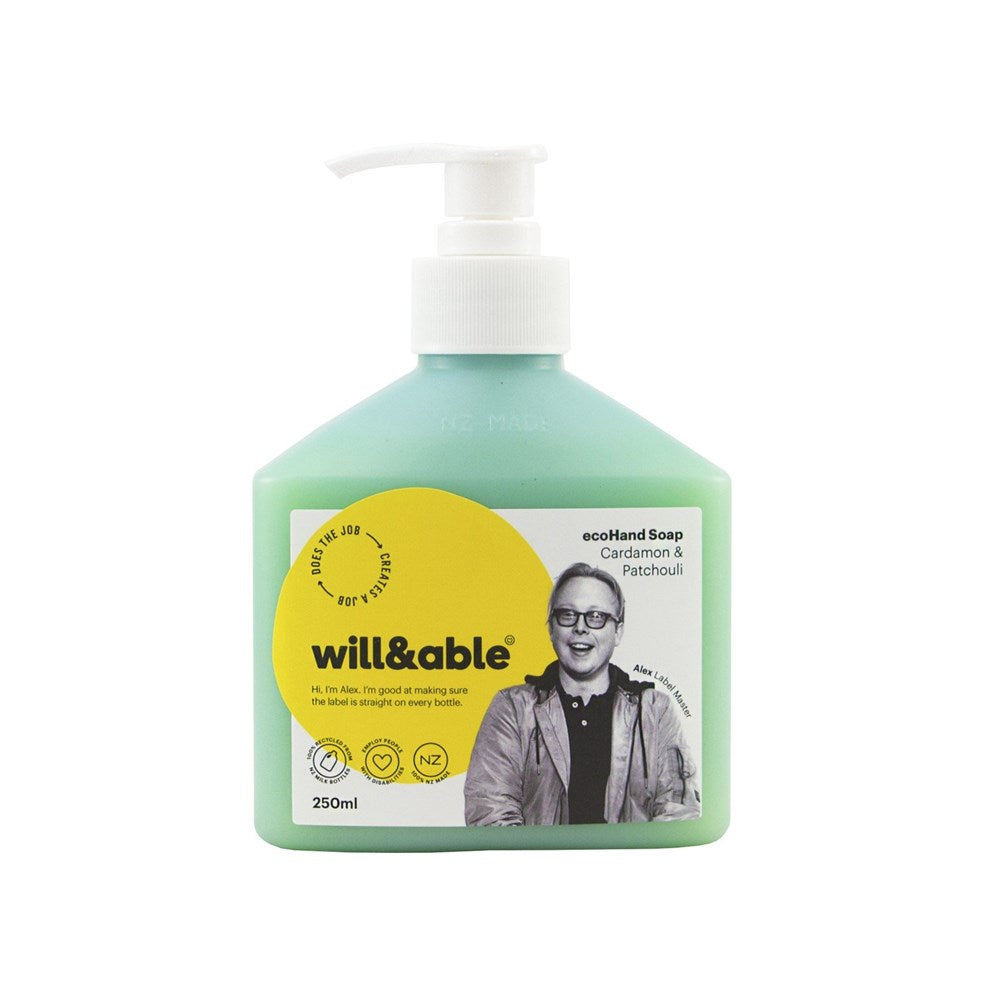 Will&Able ecoHand Soap Cardamom & Patchouli 250ml
