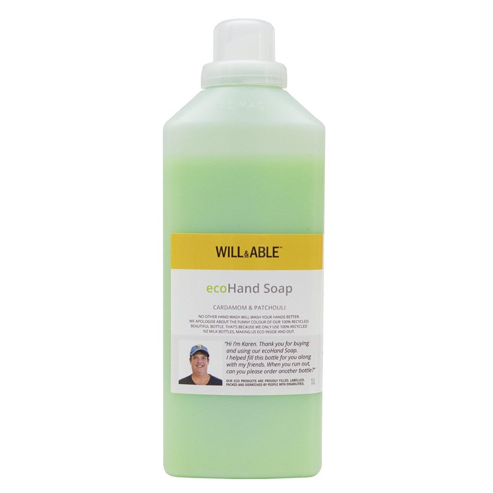 Will&Able ecoHand Soap Cardamom & Patchouli 1L