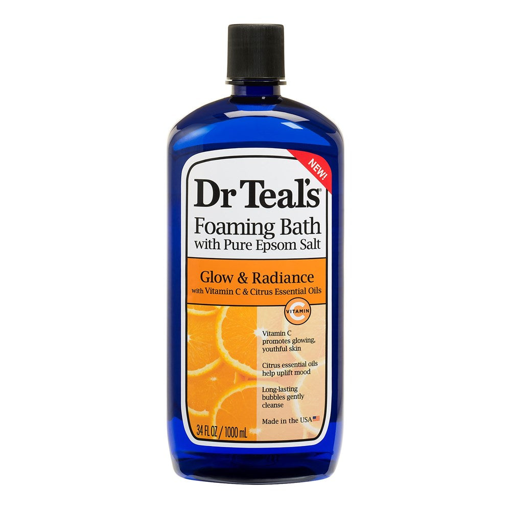 Dr Teal's Glow & Radiance with Vitamin C & Citrus Essential Oils Foaming Bath 1L