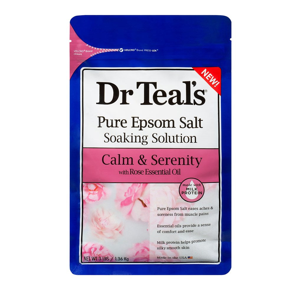 Dr Teal's Milk and Rose Epsom Salt Soaking Solution 1360G