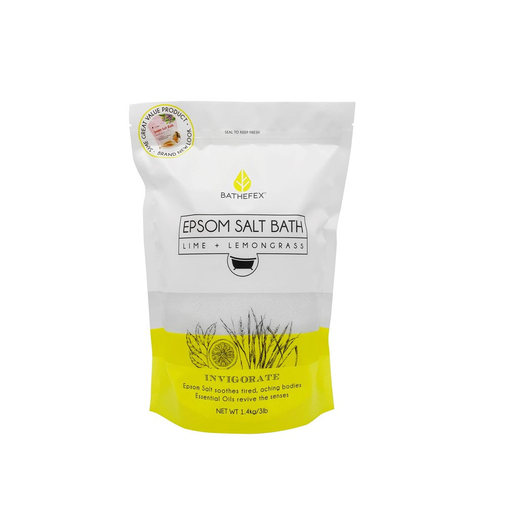 Bathefex Lime & Lemongrass Epsom Bath Salts 1.4 kg