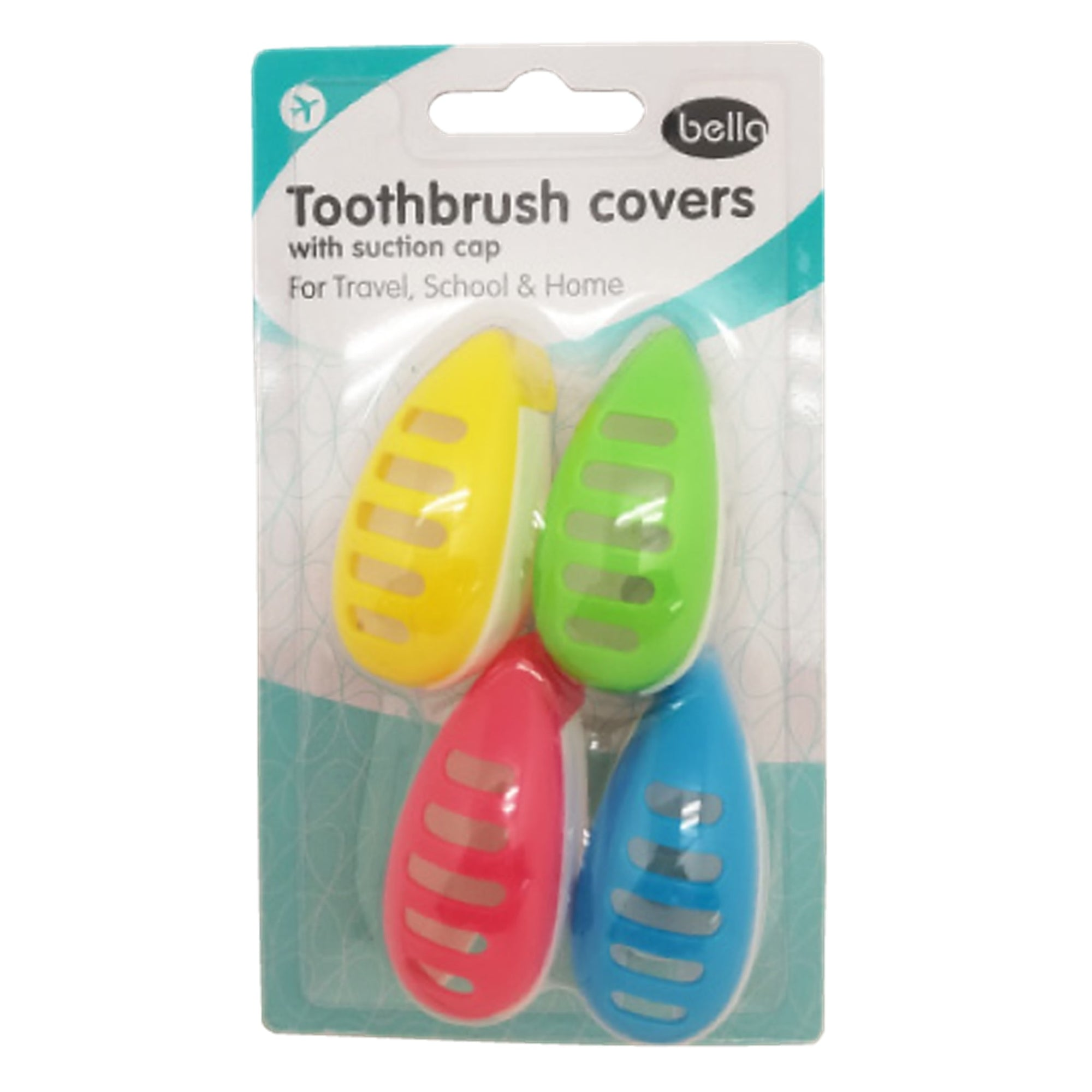 Bella Toothbrush Cover 4Pk