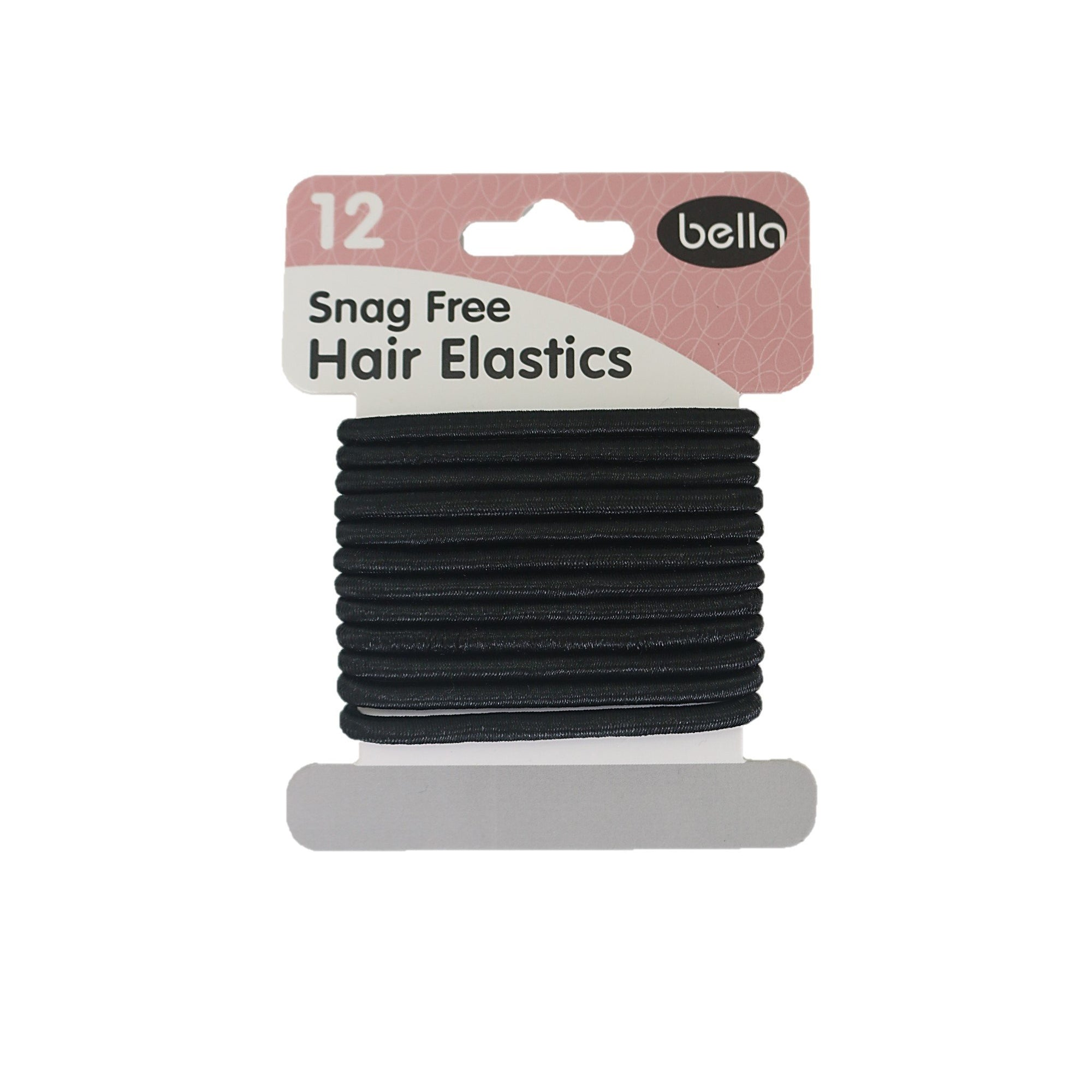 Bella Hair Elastics Black 12pk
