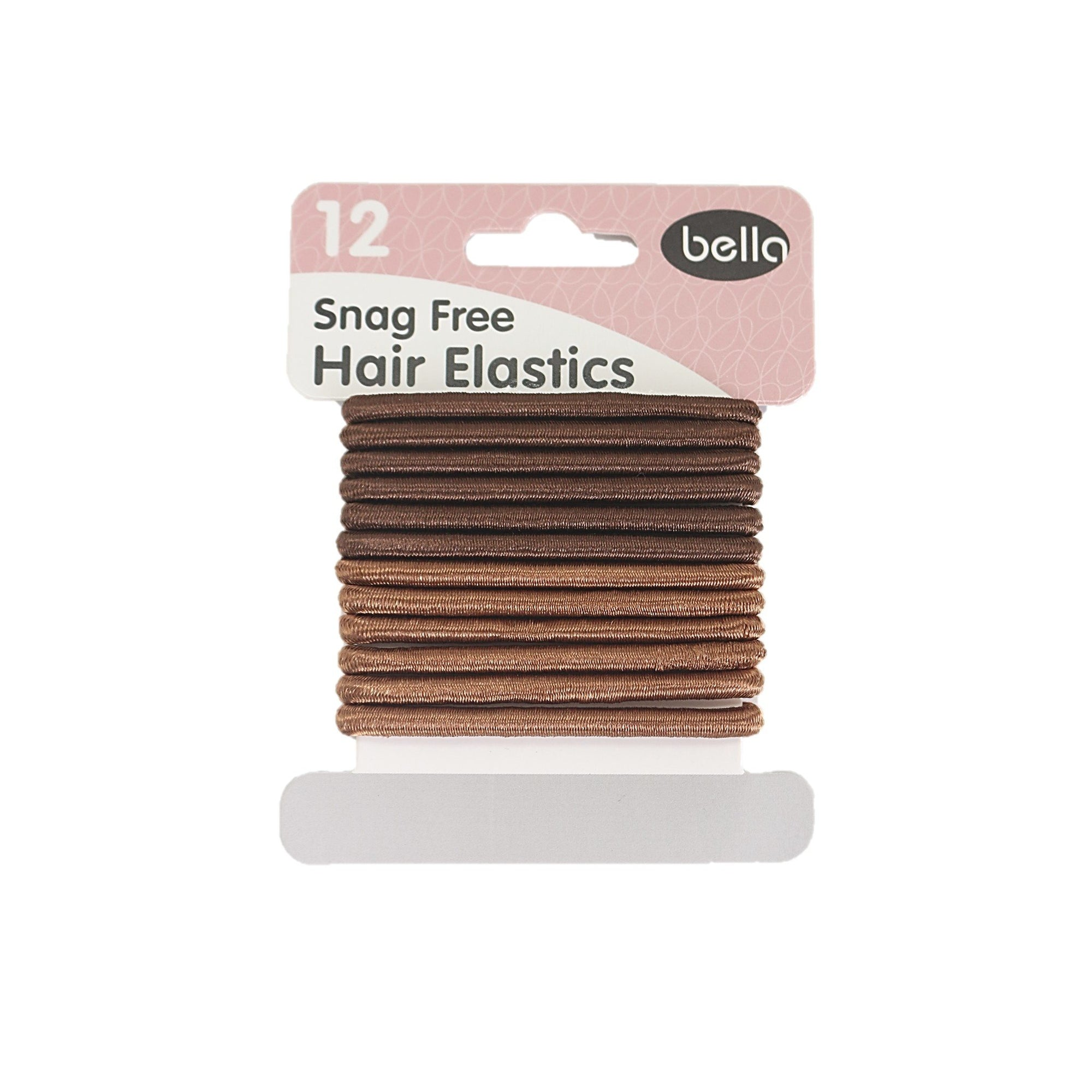 Bella Hair Elastics Brown 12pk
