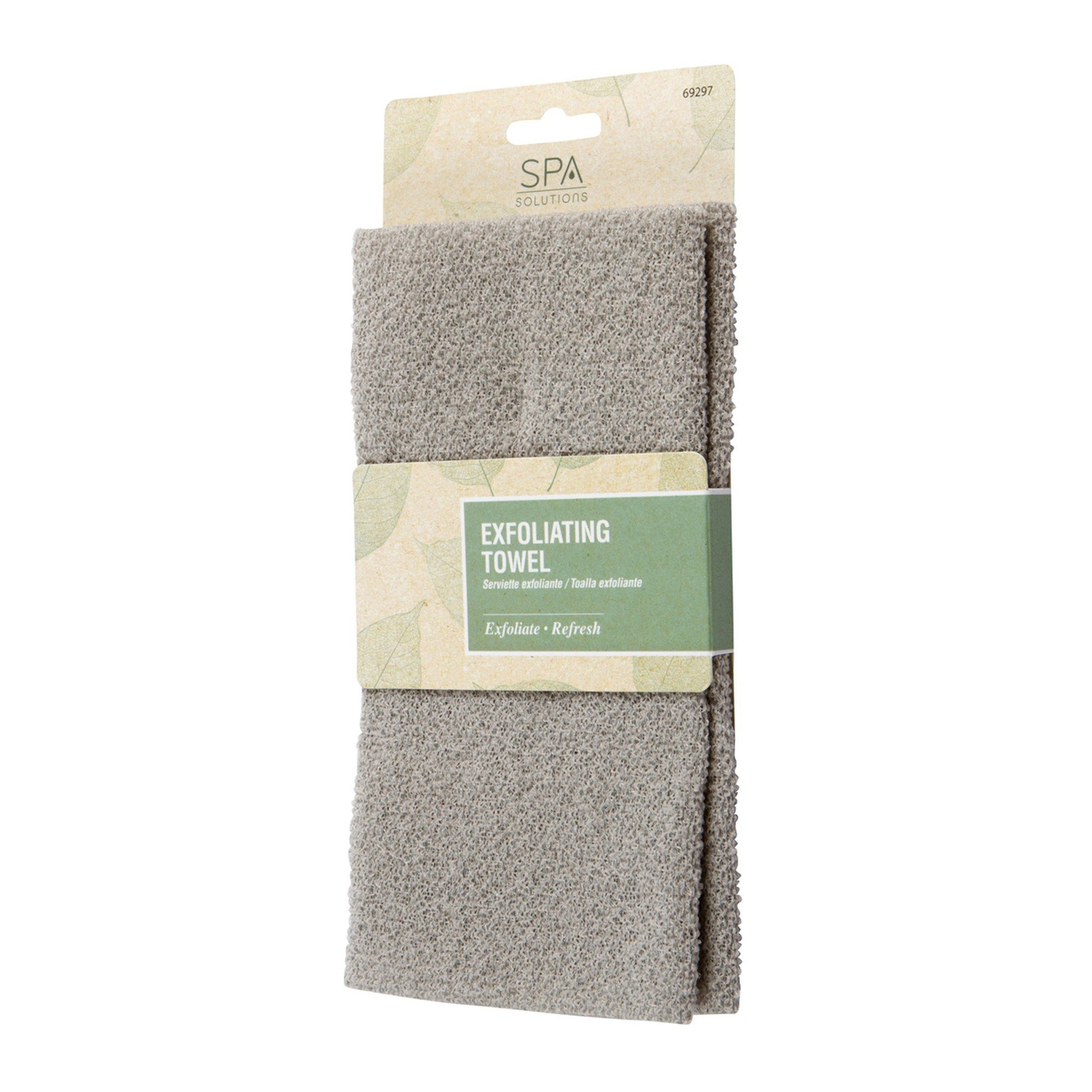 Cala Exfoliating Bath Towel - Taupe