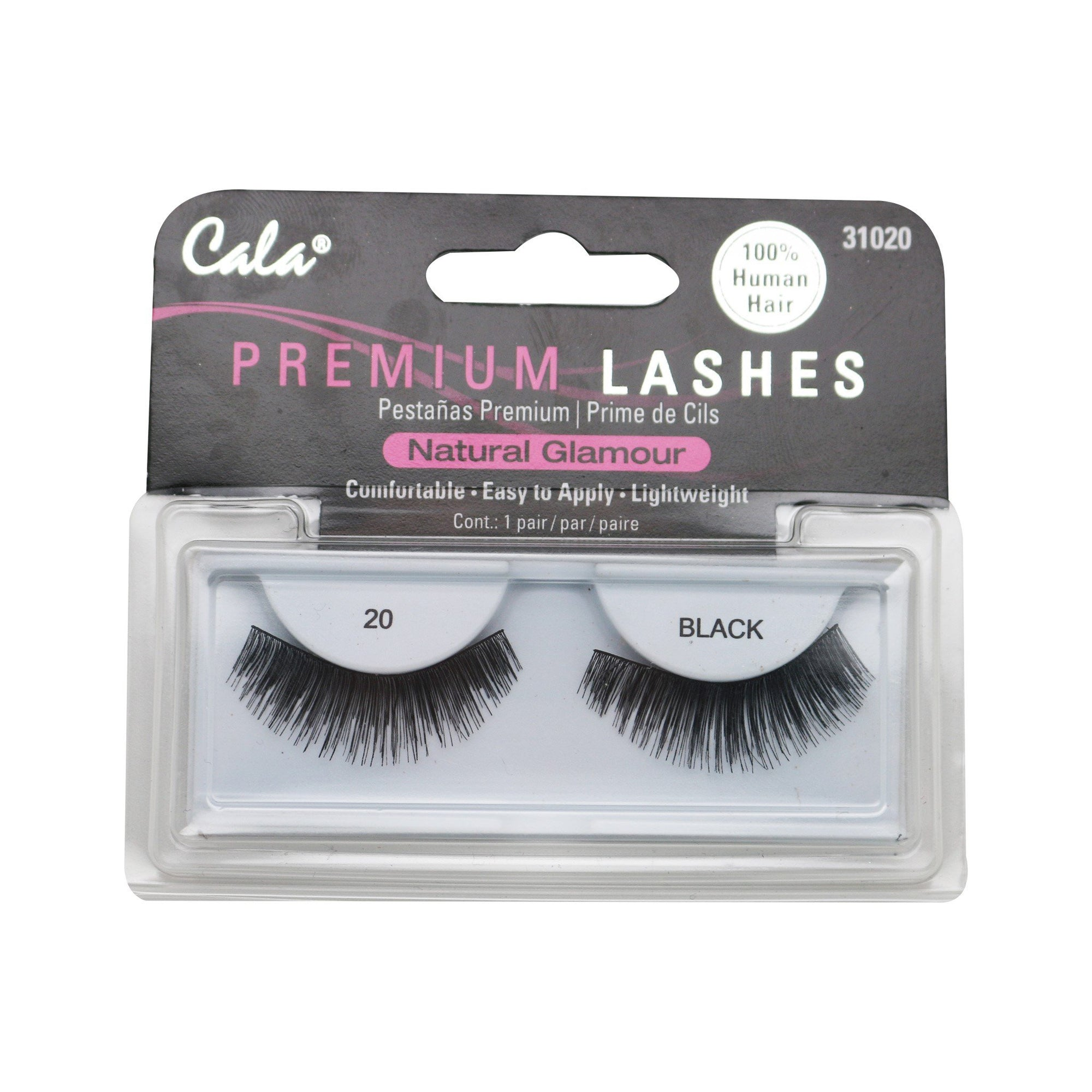 Cala Natural Glamour Premium Lashes #20 Black