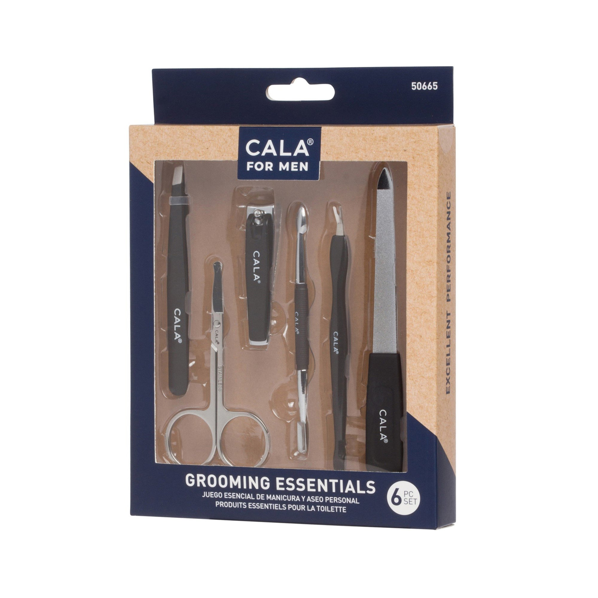 Cala Men Grooming Essentials Set 6pk