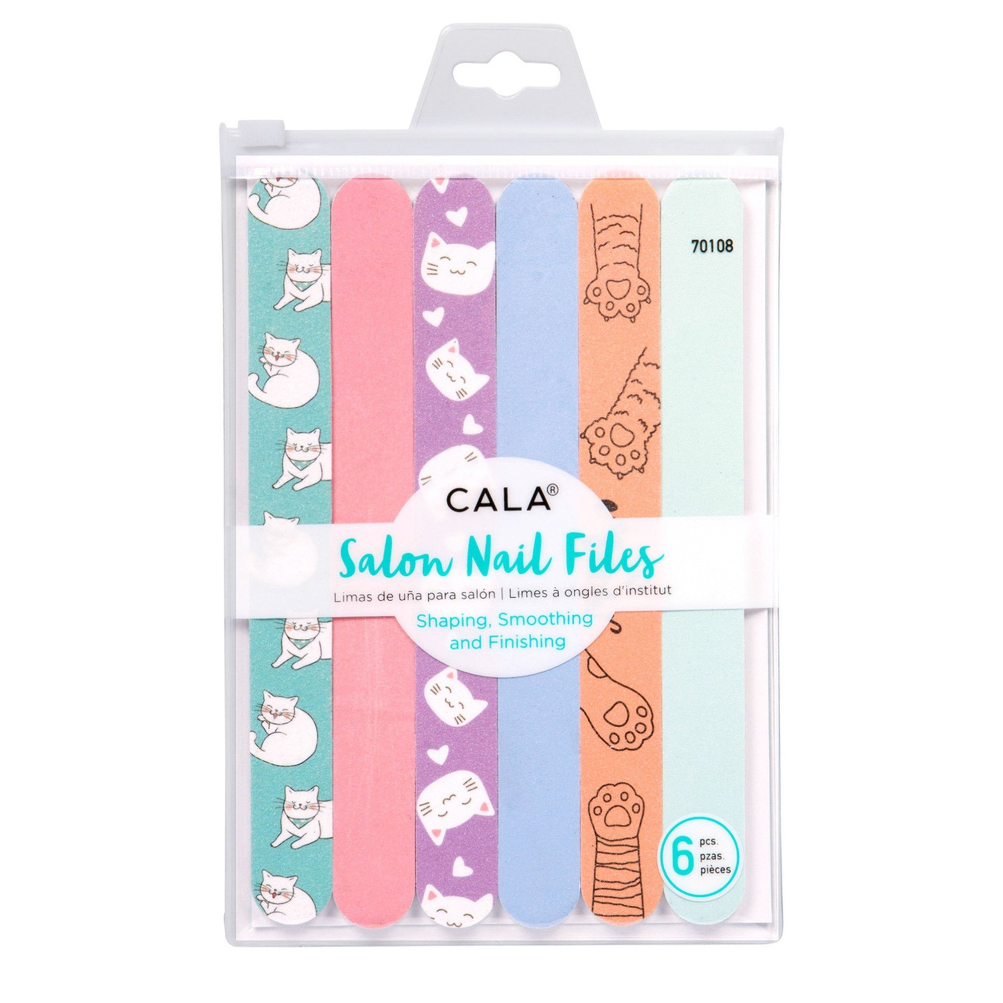 CALA NAIL FILES CAT LOVER 6pk