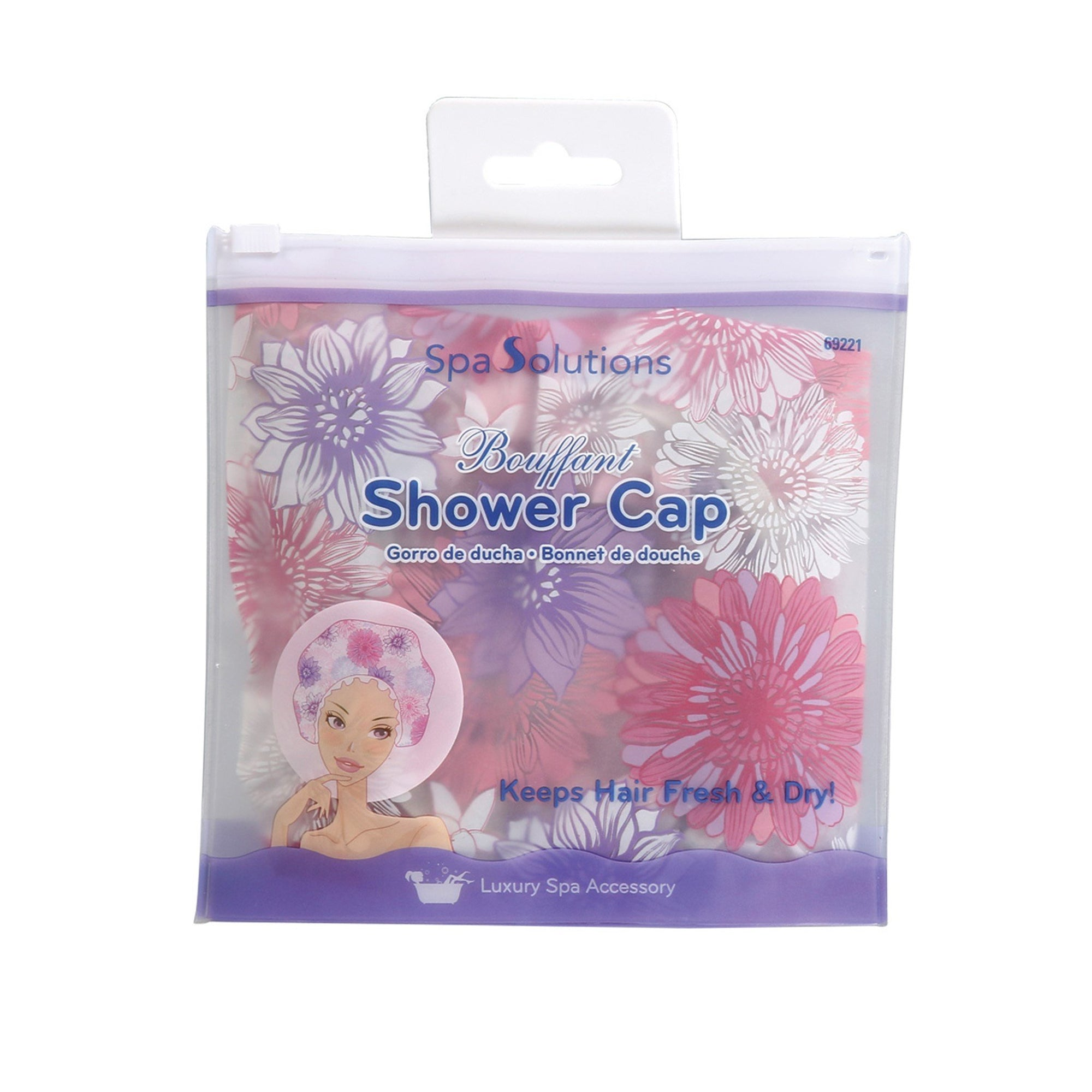Cala Shower Cap - Floral Pink