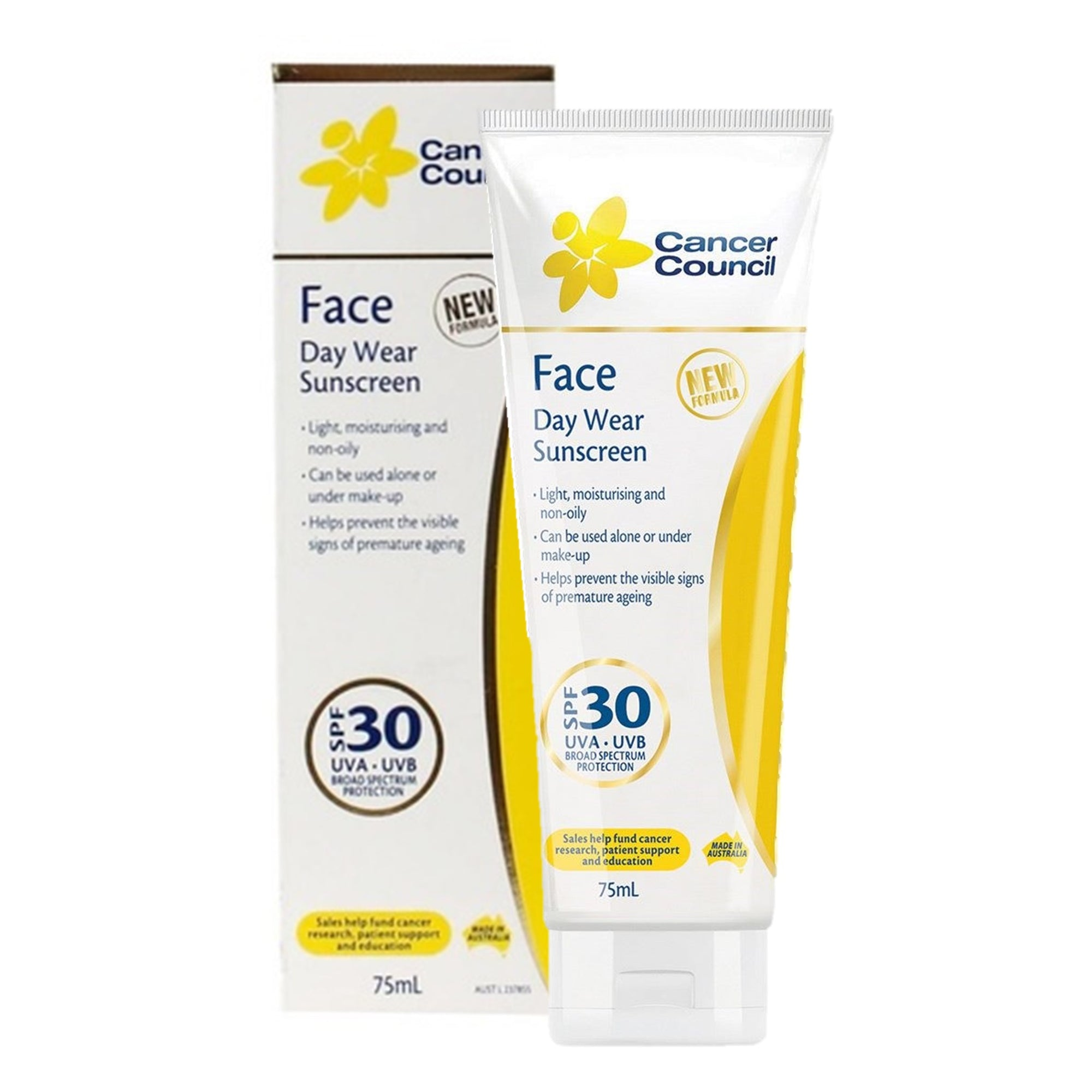 Cancer Council Face Day Wear Sunscreen 75Ml