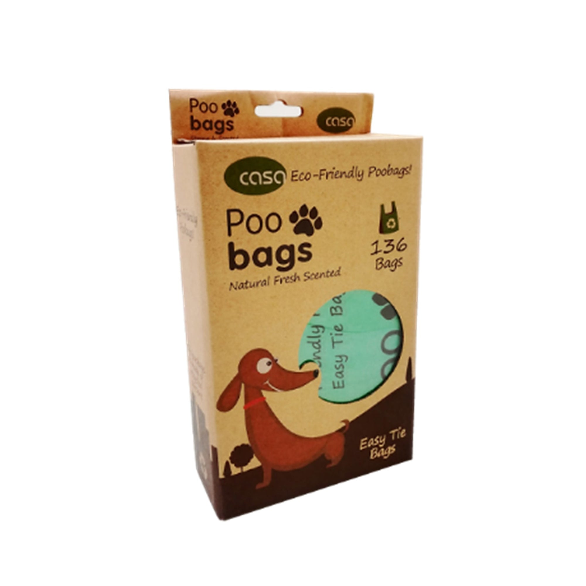Casa Pet Poo Bags Eco Friendly 136Pk