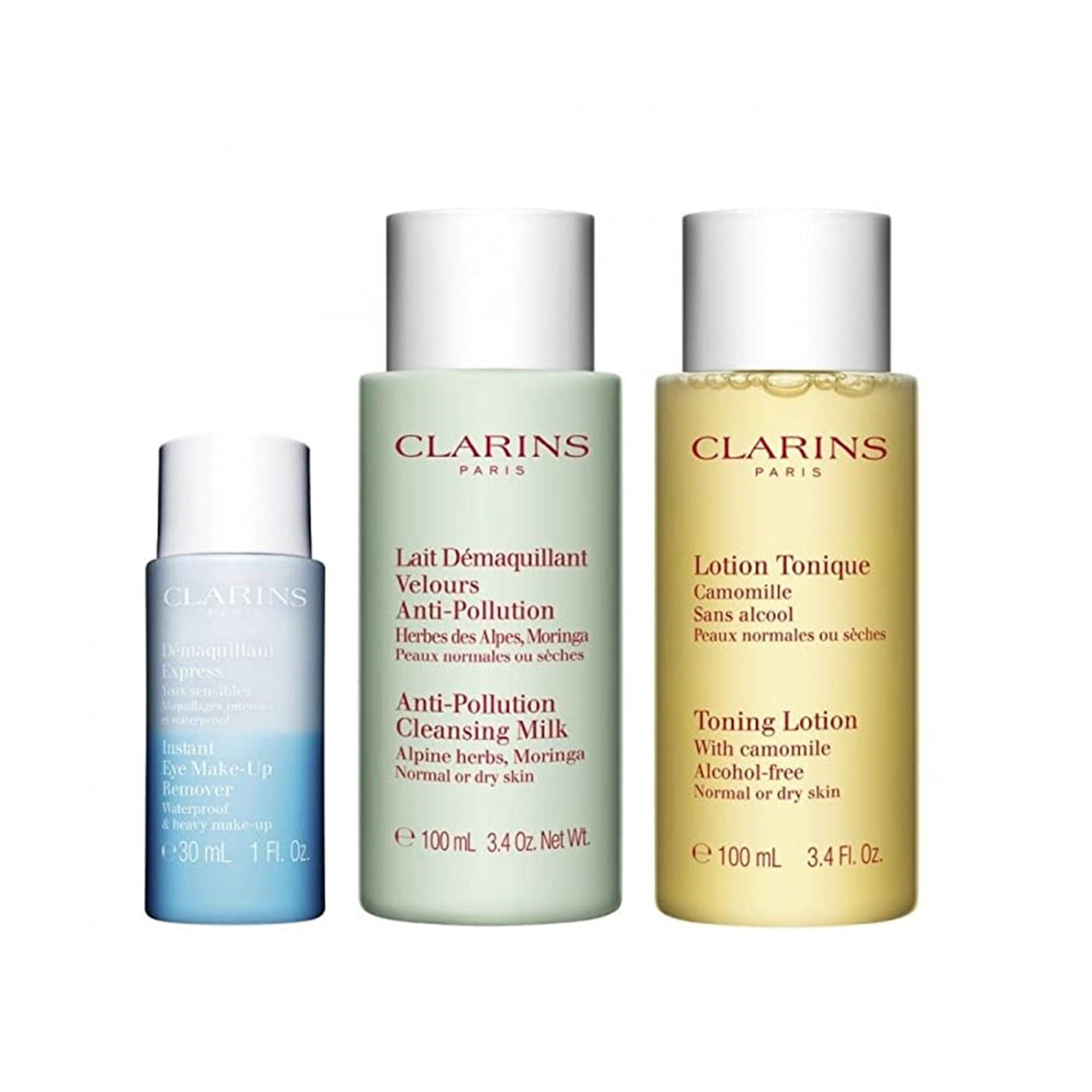 Clarins Cleansing Travel Set Combination/Oily Skin 3pcs