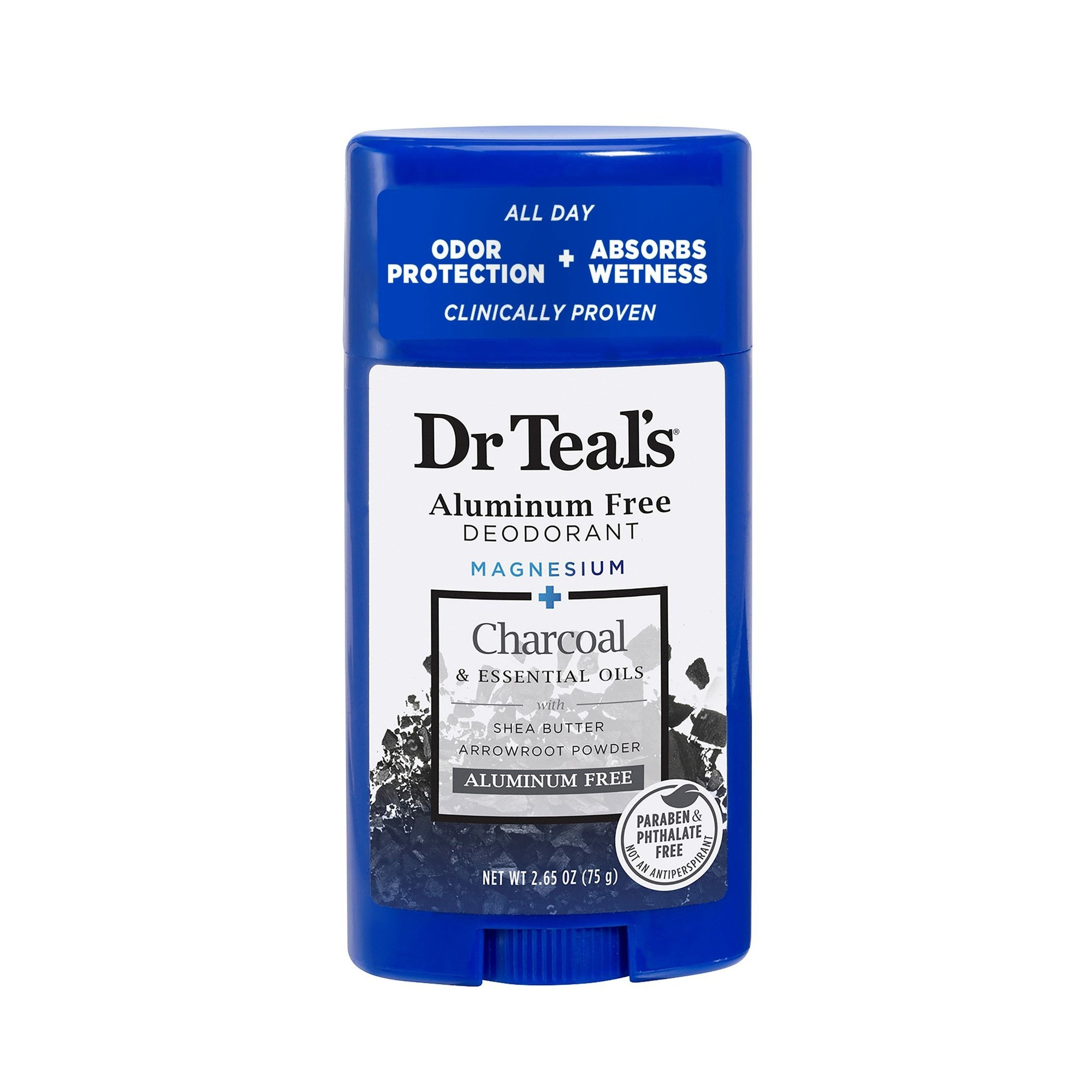 Dr Teal Aluminum Free Deodorant Stick Charcoal 75G