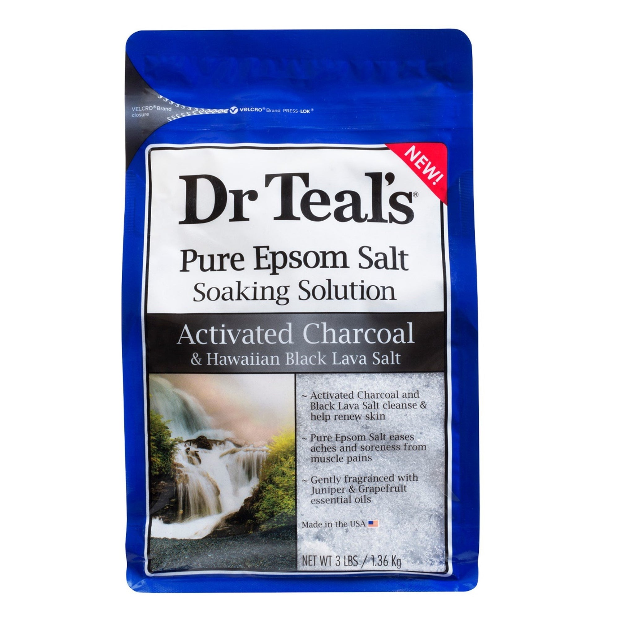 Dr Teal's Epsom Salts Active Charcoal & Hawaiian Black Lava 1360G