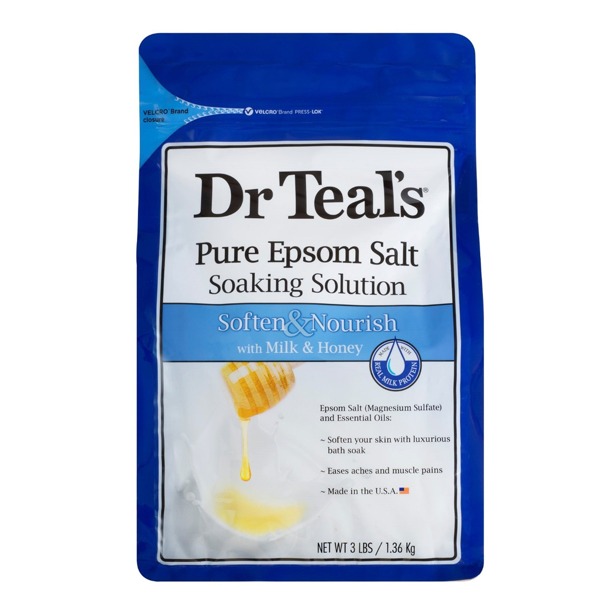 Dr Teal's Soften & Nourish Epsom Salts Milk & Honey 1360G