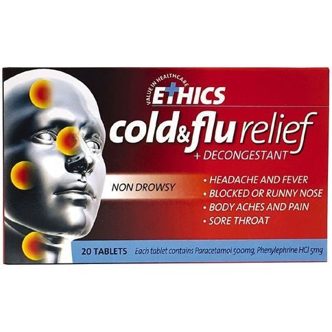 Ethics Cold & Flu Tablets 20Pk
