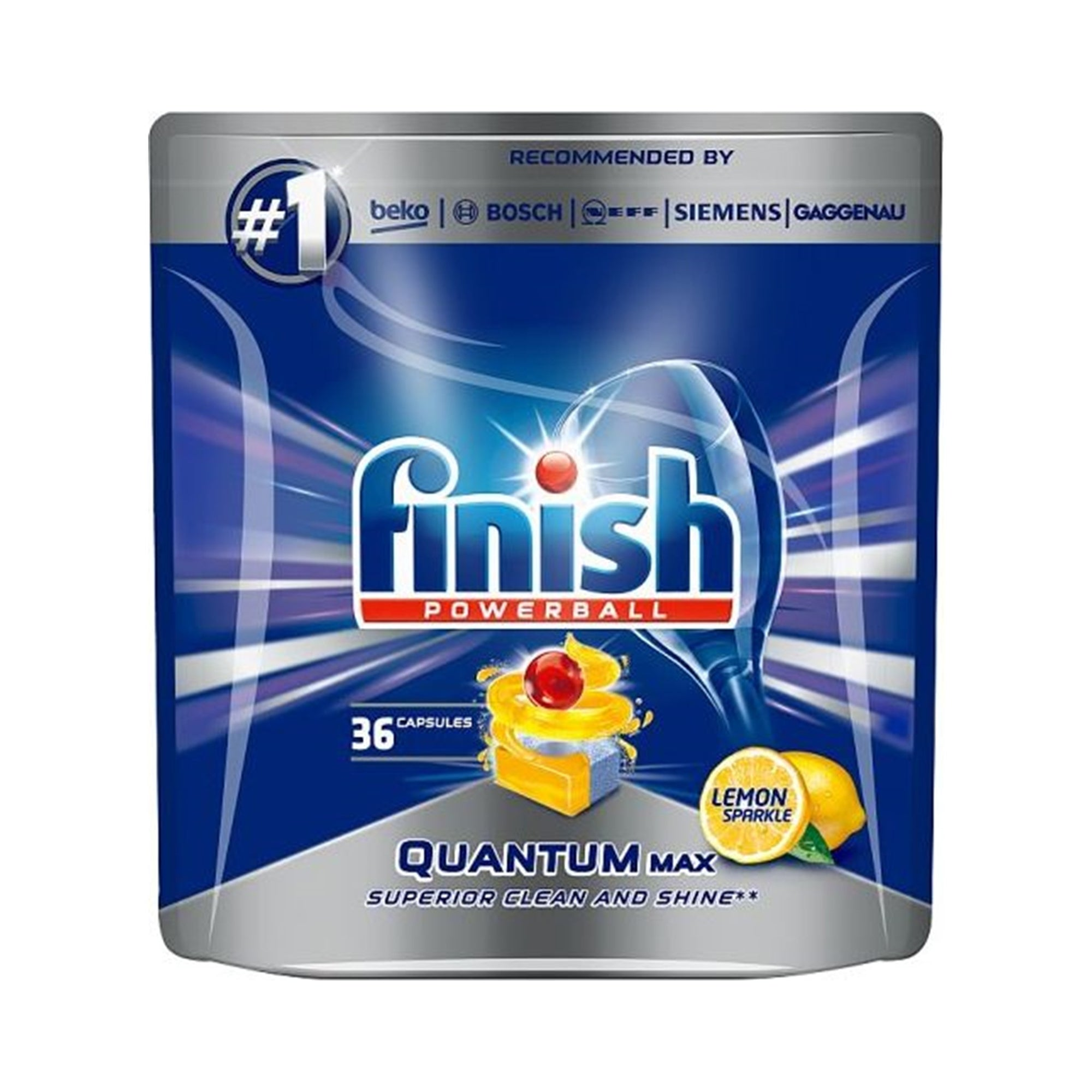Finish Quantum Max Dishwasher Tablets Lemon 36Pk
