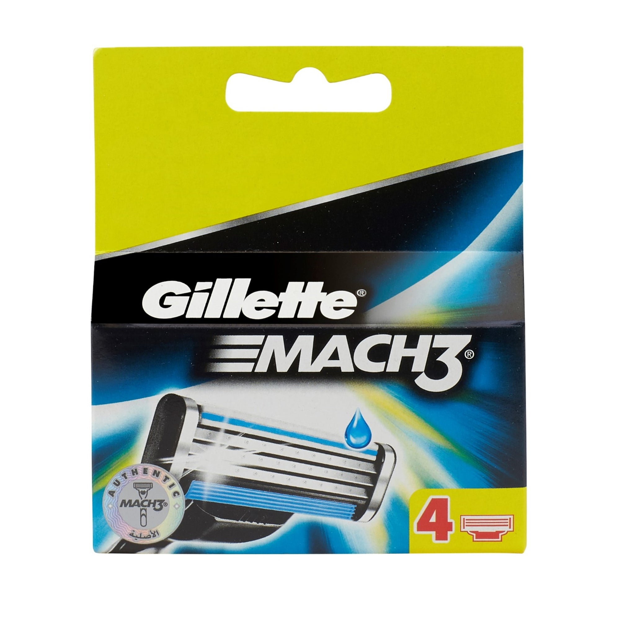Gillette Mach3 Razor Cartridges 4Pk