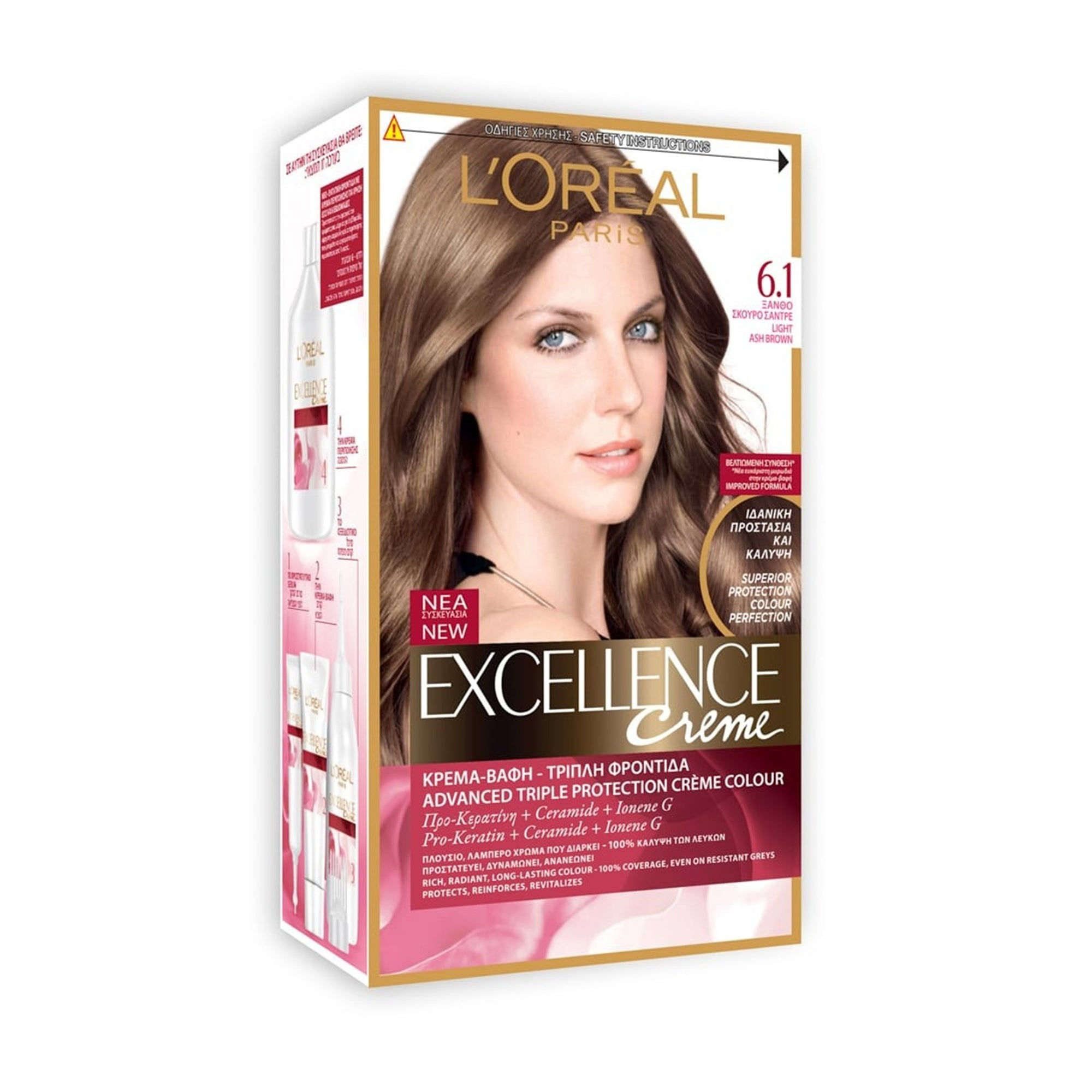 L'Oreal Hair Color #6.1 Light Ash Brown