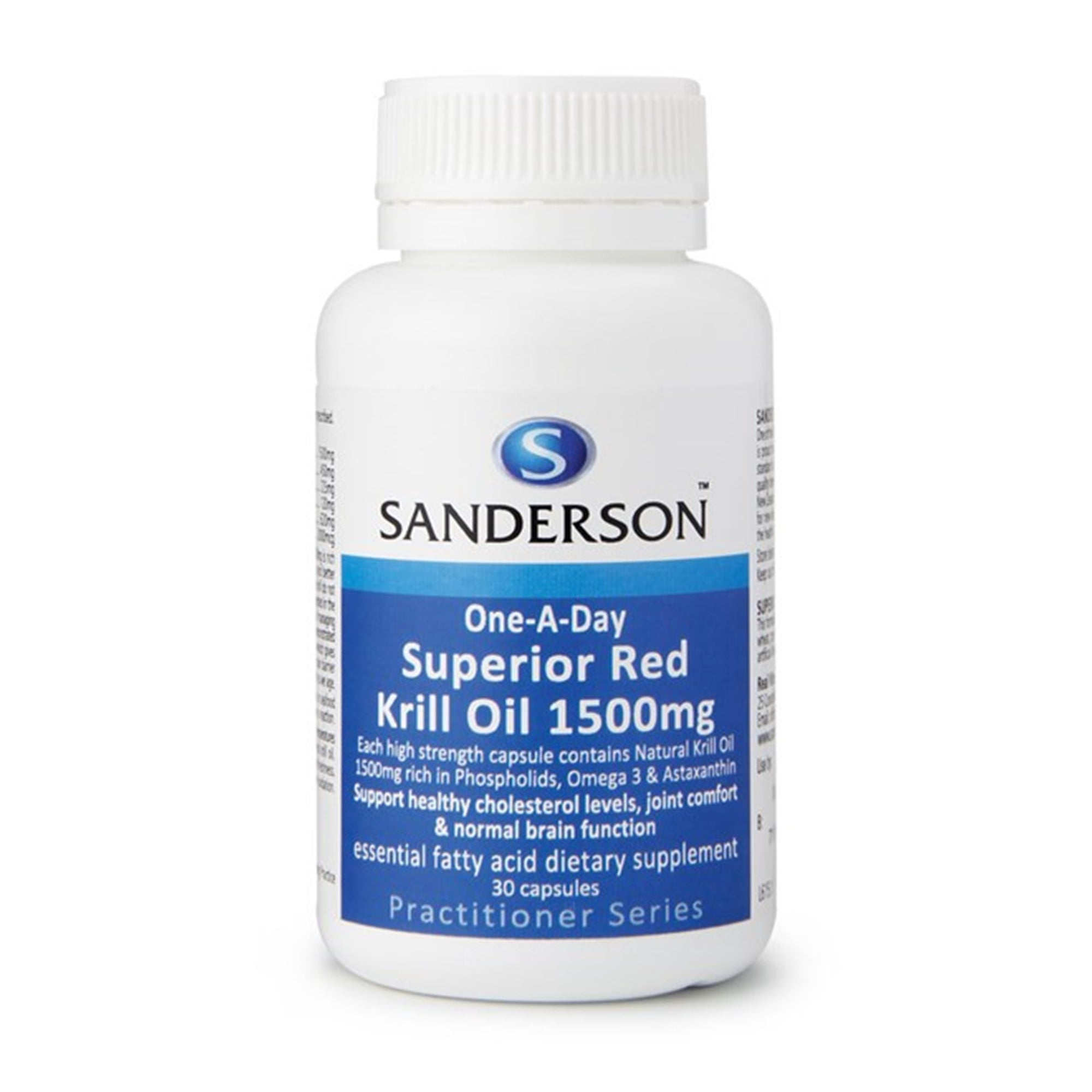 Sanderson 1-A-Day Red Krill Oil 30 Caps