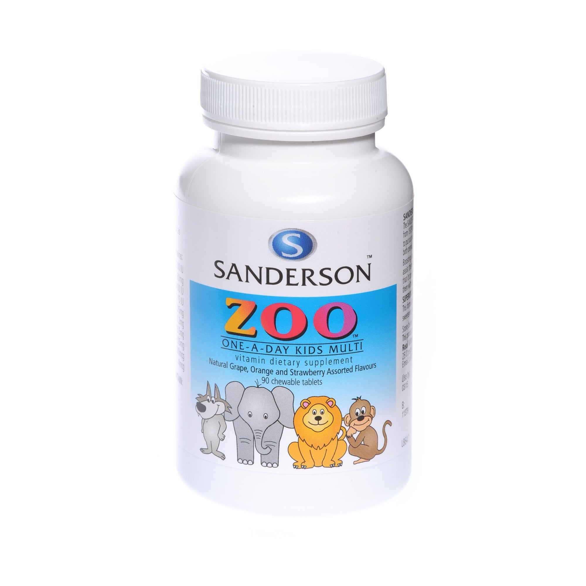 Sanderson Zoo Kids Multi Chewable 90 Tabs
