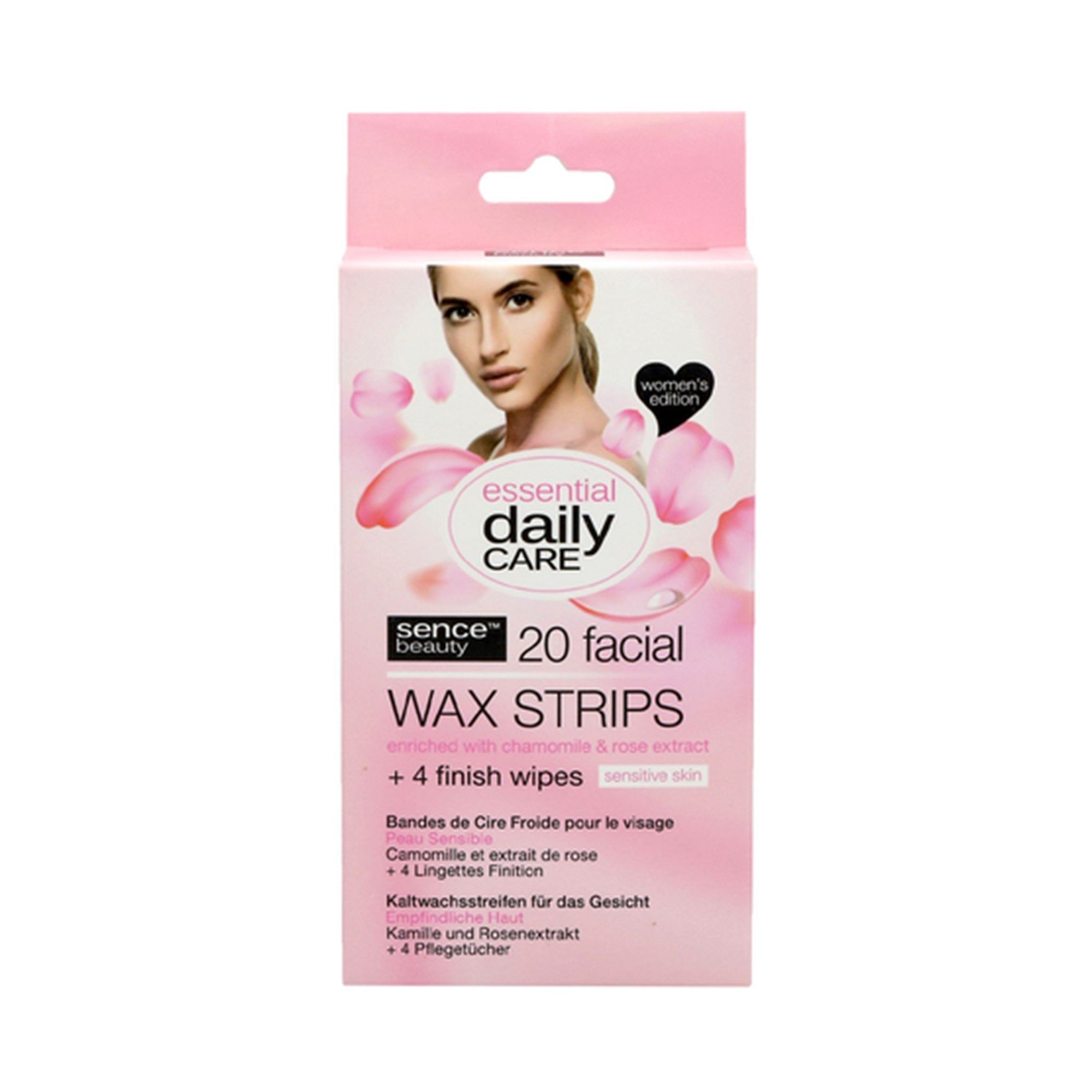 Sencebeauty Face Wax Strips for Sensitive Skin 20pk