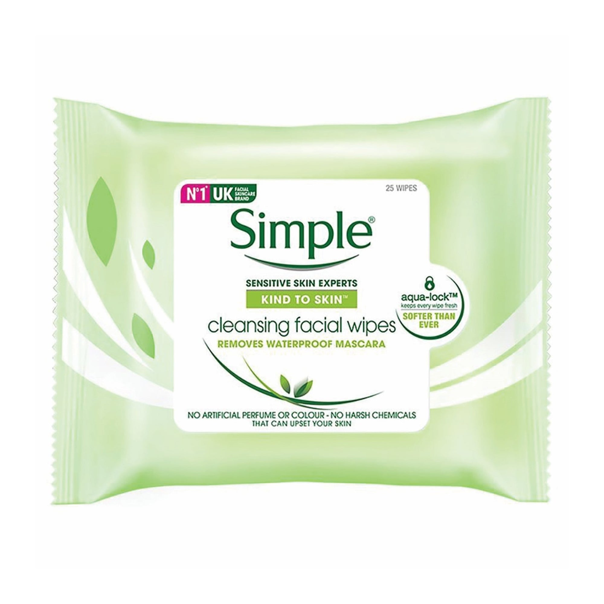 Simple Cleansing Facial Wipes 25Pk