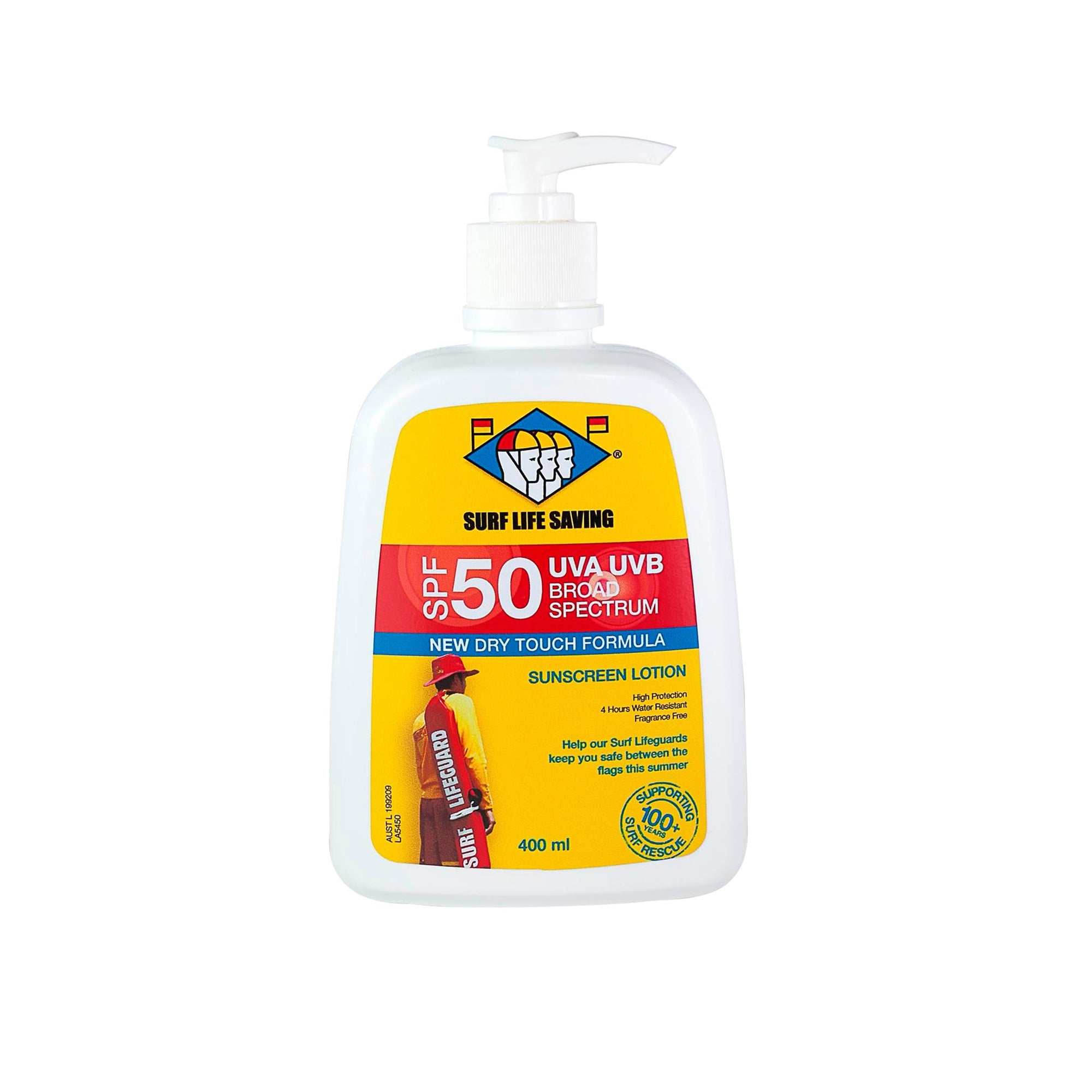Surf Life Saving Nz Spf50 Sunscreen 400Ml Pump