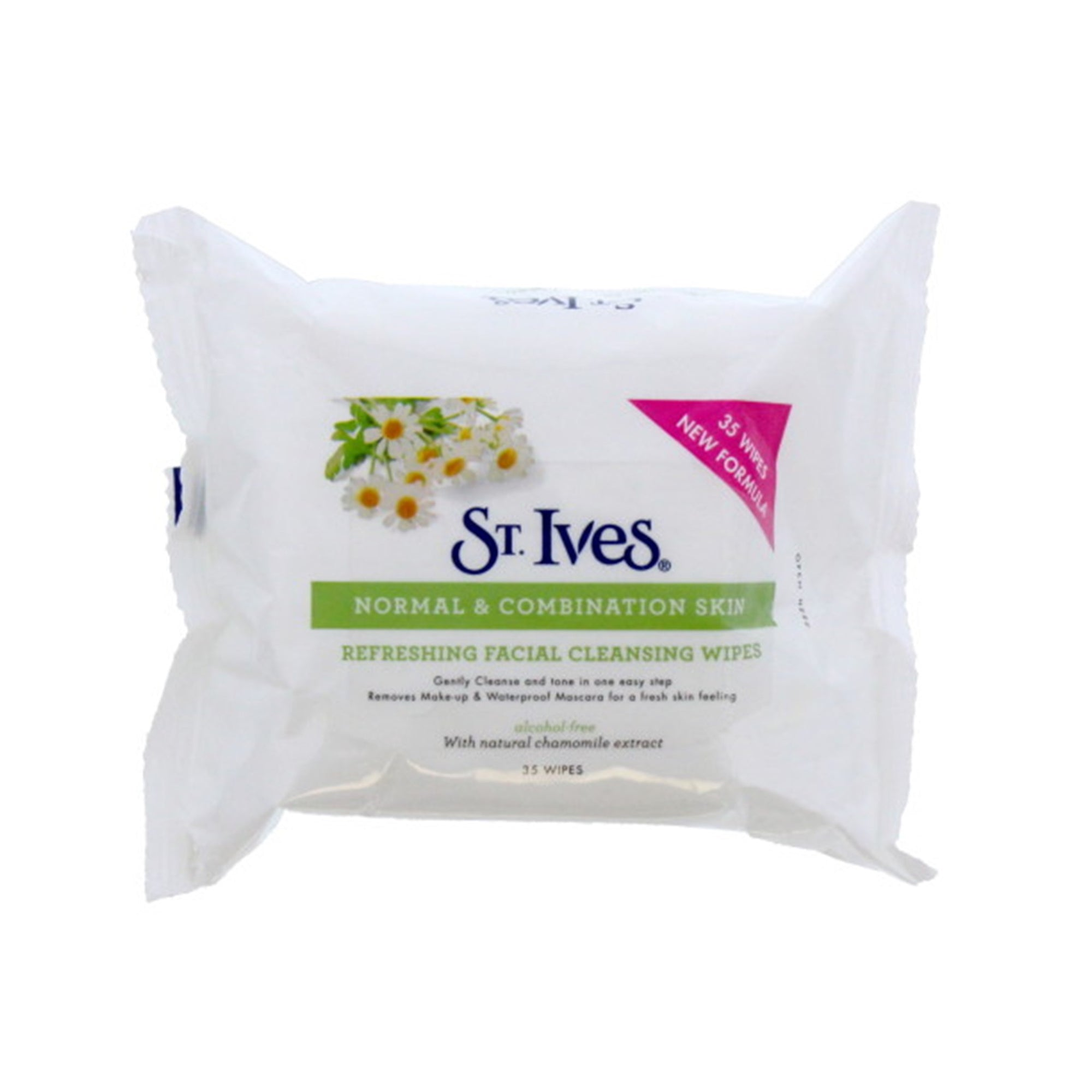 St Ives Face Wipes Normal & Combination Skin 35Pk