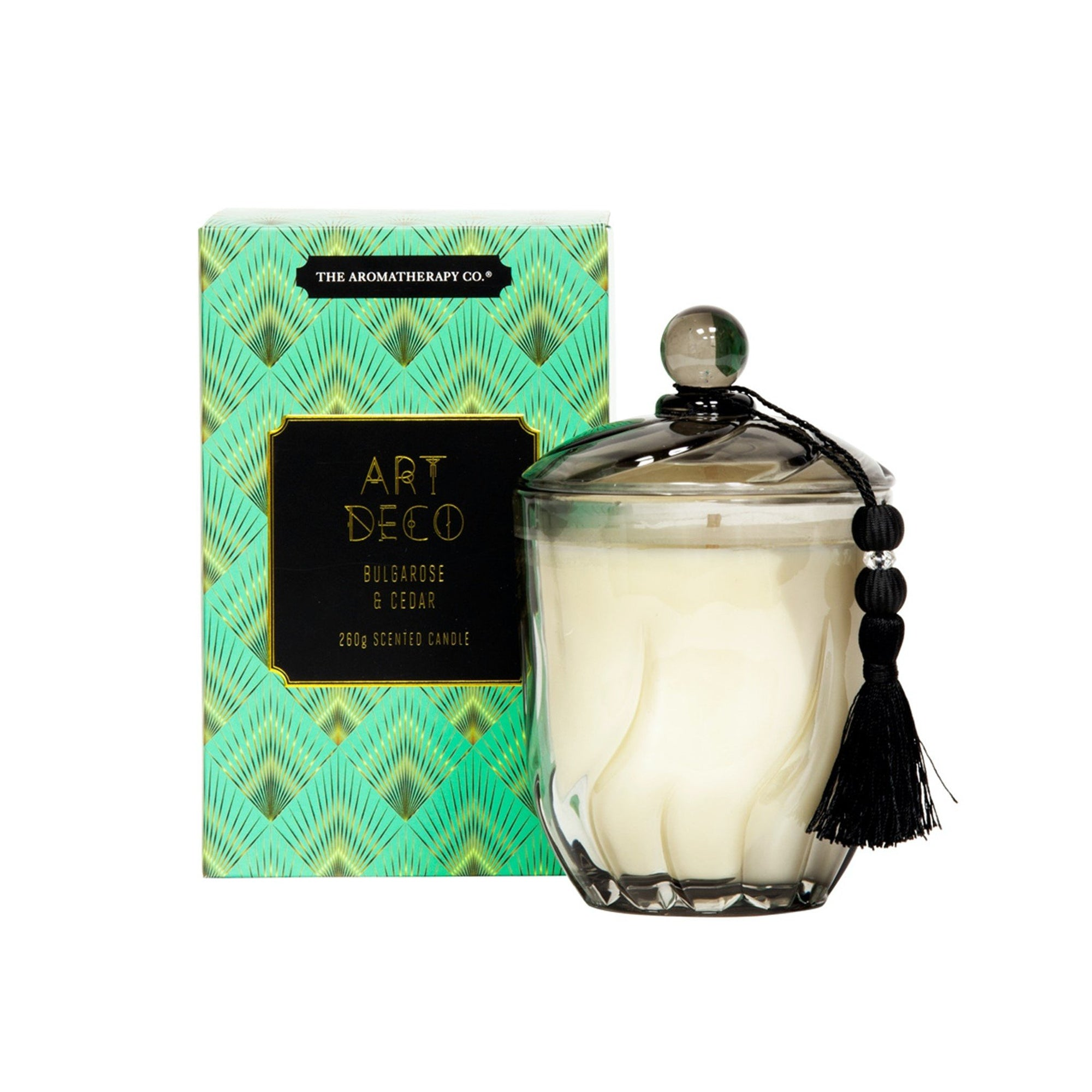 The Aromatherapy Co. Art Deco Candle Bulgarose & Cedar 260g