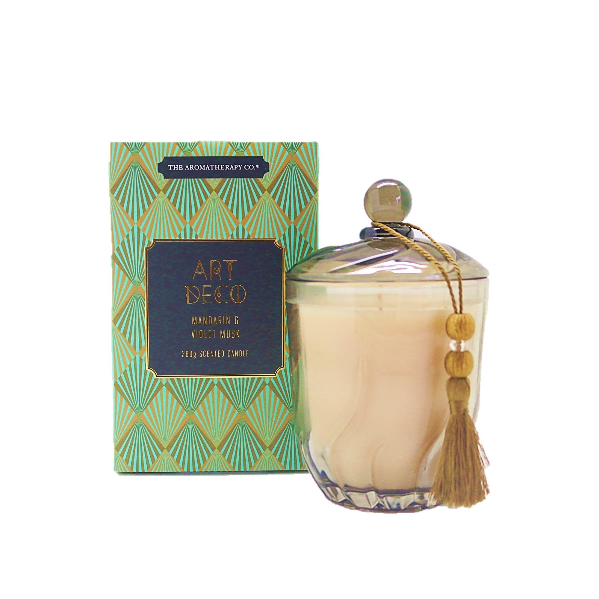 The Aromatherapy Co. Art Deco Candle Mandarin & Voilet Musk 260g