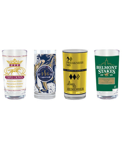 2020 Triple Crown 4 Piece Glass Collectors Set