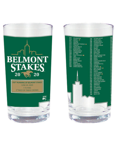 Belmont Stakes 152 LTD. Edition Collectors Glass - 2 or 4 pack