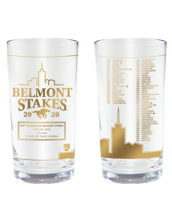 Belmont Stakes 152 Collectors' Gold Glass