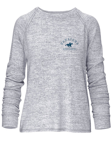 Saratoga Race Course Ladies Crewneck Sweatshirt