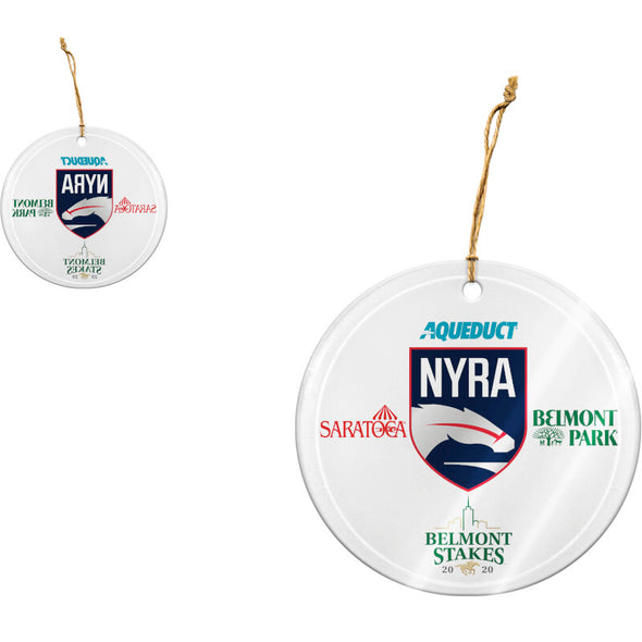 NYRA 2020 Frosted Glass Ornament Clear