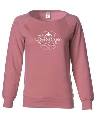 Saratoga Race Course Ladies Crew Neck Sweatshirt